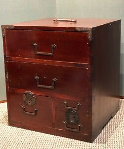 Antique Japanese Funa Tansu Ship Chest