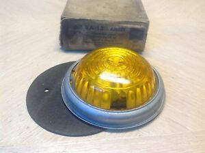 Vp 56a Clearance Light Nib Vintage Truck Bus Amber Glass Travel Trailer Lamp
