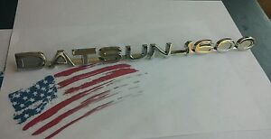 Datsun 521 Pickup Truck 1600 Badge Fender Metal Emblem New Free Shipping Us