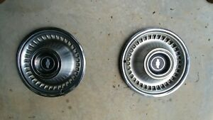 15 Inch Chevy Bow Tie Hubcaps
