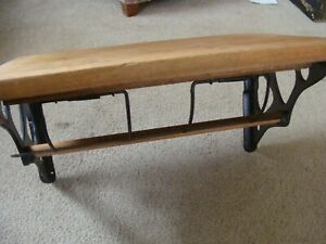 Antique General Store Butcher Paper Roll Dispenser Rare Wall Shelf Cutter Cast