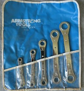 Armstrong Ratcheting 5 Piece Box End Wrench Set 29 332 Usa Used Mint Condition