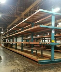 Cantilever Racking W Decking Support 14 Tall Double Sided Lumber Steel Rack