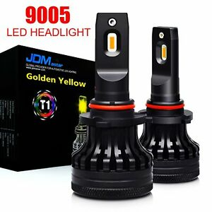 Extremely Bright 9006 Hb4 Led Headlight Bulbs Kit Low Beam 3000k 10000lm Yellow