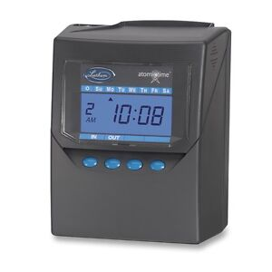 Lathem Time Company Lth7500e Calculating Time Recorder 6in x5in x8in Black