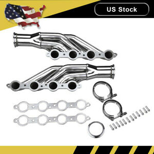 Turbo Exhaust Manifold Header Kit For Chevy Small Block V8 Ls1 Ls2 Ls3 Ls6 97 14