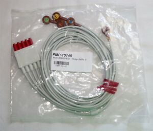 Philips M1602a 5 Leads Ekg Cable Model Fm 10145
