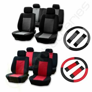 For 2008 2009 2010 2011 2012 2013 Nissan Rogue Altima Black Gray Car Seat Covers