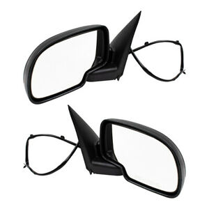 New Pair Set Power Side View Mirror Heated Chevrolet Gmc Pickup Truck Suv