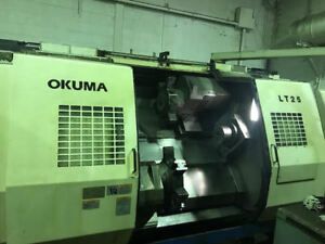 Okuma Lt25 Cnc Lathe Twin Spindle Twin Turret U100l Control Video