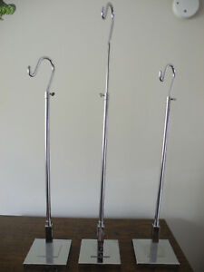Retail Counter Top Display Rack Hook Chrome Adjustable Height To 42 Purses
