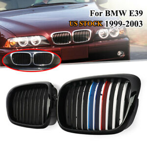 2x Gloss Black m Color Front Grille Grill For Bmw E39 5 Series E39 M5 1999 2003