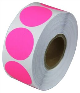 2 Adhesive Code Pink Dot Inventory Labels Coding Garage Sale Stickers 8 Rolls