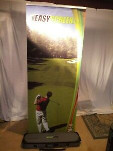 Tall Easyscreen Banner Stand Used Pop Up Display Exhibit Trade Show Bannerstand