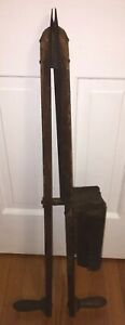 Primitive Wooden Hand Seed Planter Farm Seeder Antique Tool