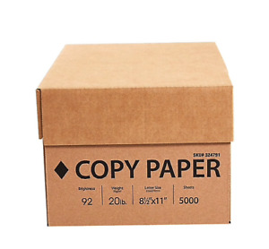 Copy Paper Printing Letter Fax 20lb 92 Bright White 10 Ream Case 5000 Sheets