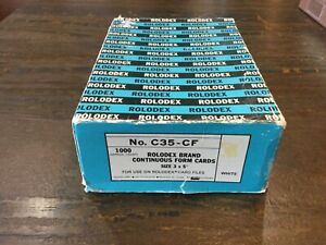 Rolodex Brand No C35 cf 1000 Continous Form Cards 3x5 Usa Rotary Card File