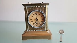 Antique Brass Carriage Clock C1900s Musial Alarm Playing Daisy Working