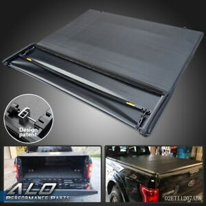 Lock Four Fold Soft Solid Tonneau Cover Black For 97 03 F 150 6 5 Ft Short Bed