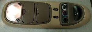 2000 2002 00 01 02 Ford Excursion Tan Overhead Console W Compass Climate Roof