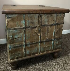 Antique Indian Wedding Trunk Coffee Table Storage Trunk Tv Stand Furniture