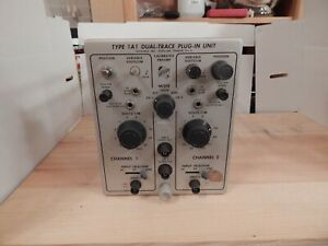 Vintage Tektronix Type 1a1 Dual trace Plug in Unit Calibrated Preamp For Parts O