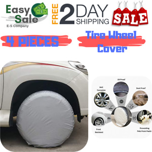 Ess Tire Wheel Cover 25 28 Inch For Rvs Truck Car Waterproof Sun Protector 4 Pcs
