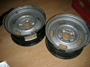 Chevy 15 X 7 Rally Wheels 2 Drilled For Slicks
