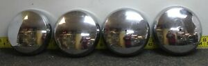 Oem Ford Set Of 4 11 1 4 Chrome Dog Dish Hub Caps 1950 Mercury Sedan Svm27y