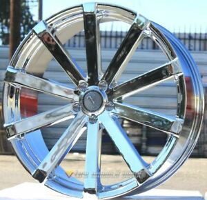 22 Inch Velocity 12 Chrome Wheels Tires Fits Bmw 5x120 13 Low Offset