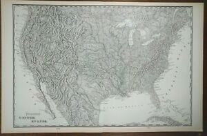 Vintage 1902 United States Topographical Map 22 X14 Old Antique Usa Mapz