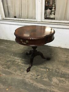 Henkel Harris Round Drum Table Claw Footed Mahogany