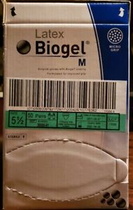 Latex Biogel M Micro Grip Surgical Gloves 30555 01 Size 5 1 2 50 Pairs 04 28 20