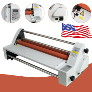 Portable 17 Roll Laminating Machine Hot Cold Laminator Roll Laminating Machine