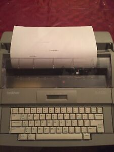 Brother Sx 4000 Electronic Lcd Display Typewriter Tested Working