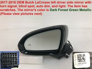 2017 2018 Buick Lacrosse Left Side Mirror With Turn Signal Blind Spot 26676269