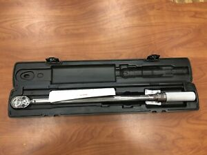 Snap On 1 2 Drive Sae Adjustable Click Type Fixed Ratchet Torque Wrench