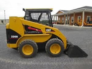Cat 236b Skid Steer Loader Used Diesel Rubber Tires 3rd Valve