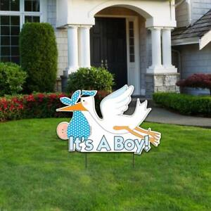 it s A Boy Die Cut Stork Baby Announcement Yard Sign Free Shipping