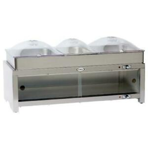 Cadco Cmlb cslp Warming Cabinet With Buffet Server And Clear Lids