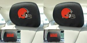 Nfl Cleveland Browns Head Rest Covers With Embroidered Logos