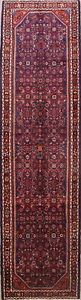 Vintage All Over Traditional 14 Runner Hamedan Persian Hand Knotted 4 X14 Rug