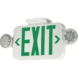 Compass 2 light Thermoplastic Led Emergency Unit exit Combo