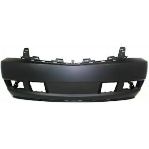 Front Bumper Cover For 2007 2014 Cadillac Escalade W Fog Lamp Holes Primed