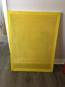 Victory Factory Silk Screens 30 x40 230 Mesh Used Good