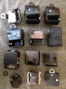 Vintage Clock Battery Junghans Metamec Jaz Other Movements Parts Untested