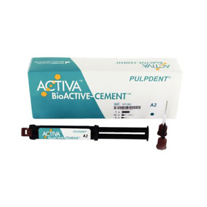 Pulpdent Vc1a2 Activa Bioactive Resin Cement Automix Dual Cure Syringe A2 Opaque