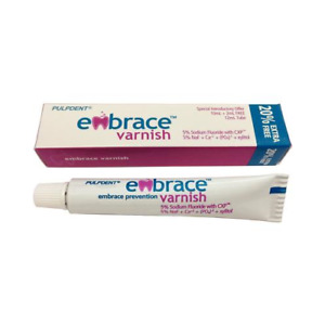 Pulpdent Fvt Embrace Dental Varnish Fluoride Cxp Tube 5 Bubblegum 12 Ml