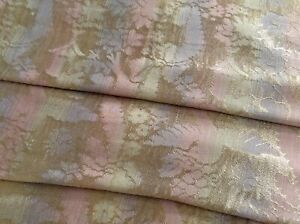 Antique Vintage Victorian Rainbow Silk Damask Fabric Curtain Panel Drape Doves