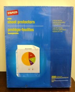 1400 Count Staples Top Loading 2 4 Mil Clear Sheet Protectors Pvc